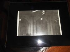 BLACK GLAZED PICTURE FRAME WITH DECO  PHOTOGRAPH PRINT